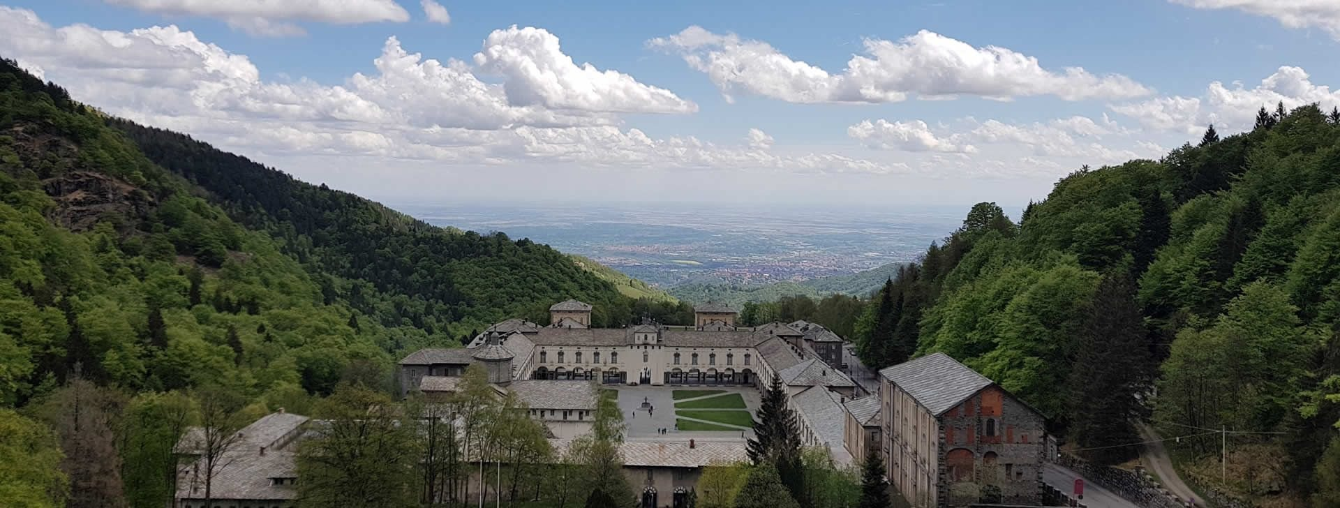 Oropa panorama a valle