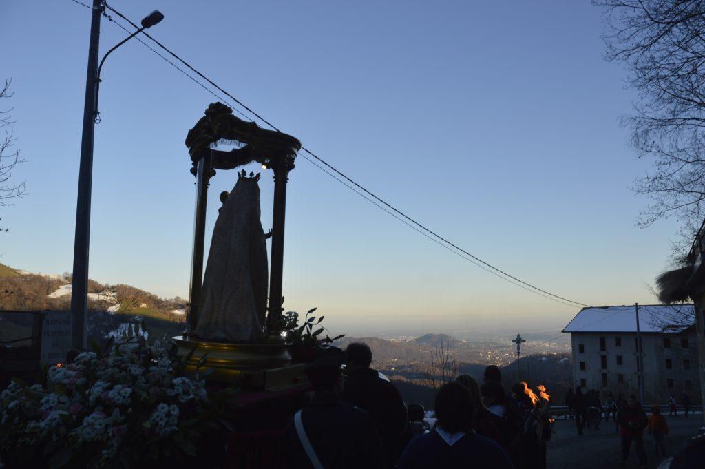 Pellegrinaggio della Madonna di Oropa nel biellese