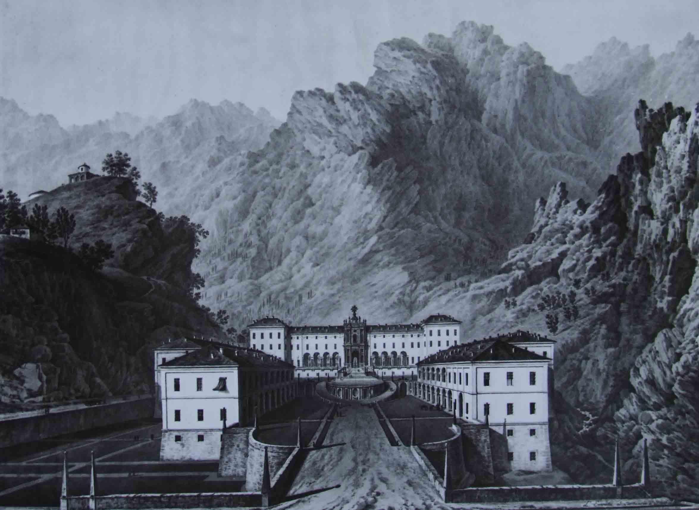 Veduta di Oropa - Bagetti
