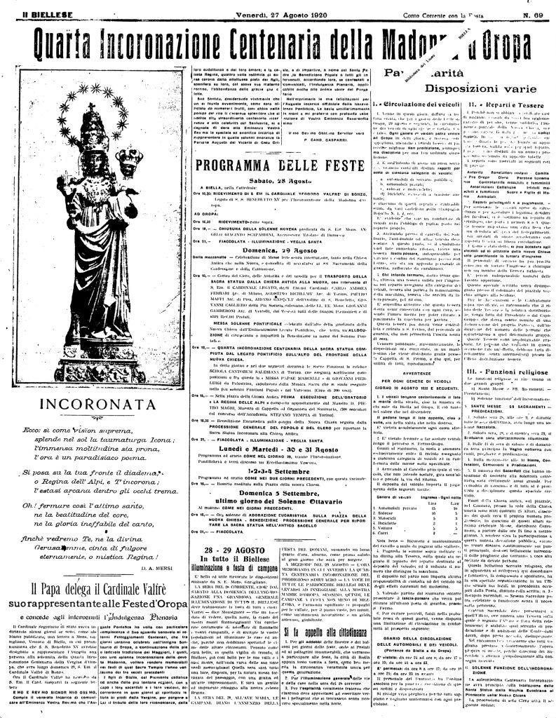 Oropa 1920 - Il Biellese