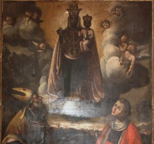 restauro dipinto Madonna di Oropa