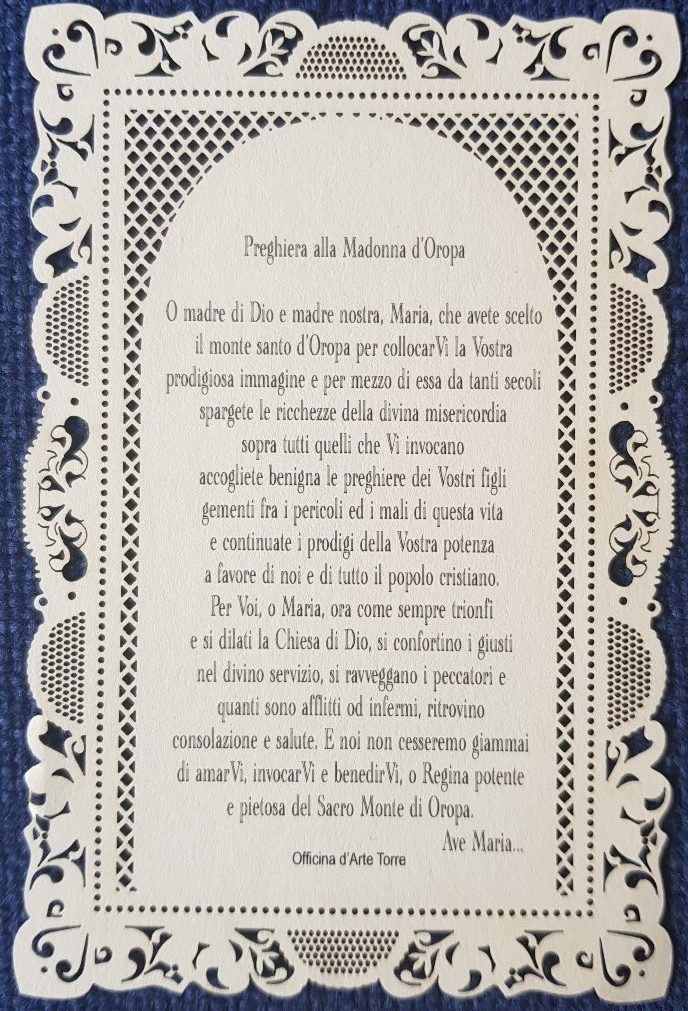 preghiera Madonna di Oropa